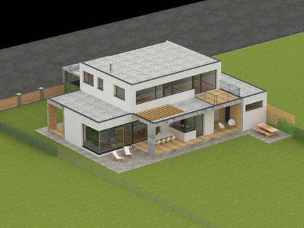 HAUS M+P:  Einfamilienhaus von AL ARCHITEKT