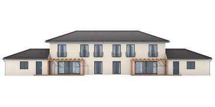 Doppelhaus Innenhoffassade:  Mehrfamilienhaus von renderslot
