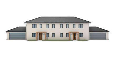 Doppelhaus Fassade:  Mehrfamilienhaus von renderslot