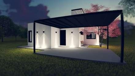 Garages de estilo moderno por efeyce