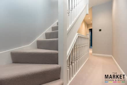 TWICKENHAM EXTENSION, LOFT AND REFURBISHMENT:  Stairs by The Market Design & Build