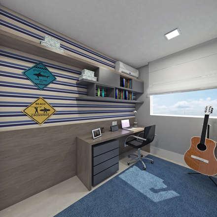 Residência BG: Closets modernos por Skala Arquitetura e Engenharia