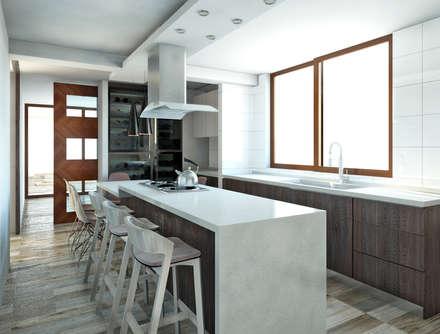 Muebles de cocinas de estilo  por NEF Arq.