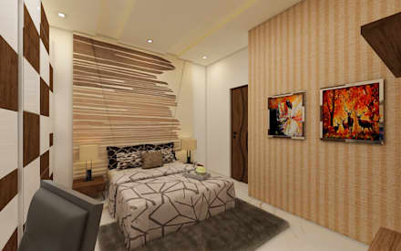 Bedroom: Modern Bedroom By Regalias India Interiors U0026 Infrastructure