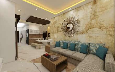 Living Room : Modern Living Room By Regalias India Interiors U0026  Infrastructure