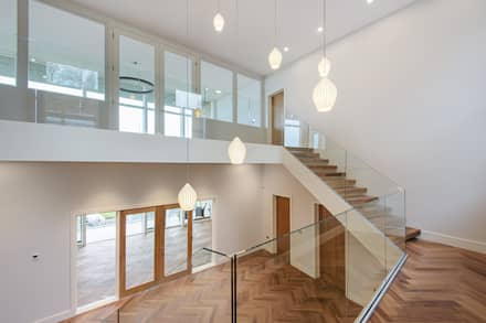 Rothbury Northumberland New Build:  Stairs by Model Projects Ltd