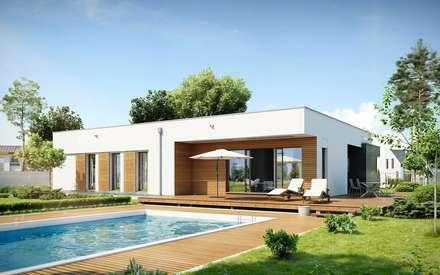 : modern Living room by FHS Casas Prefabricadas