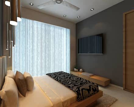 Borivali Residence: Asian Bedroom By Midas Dezign