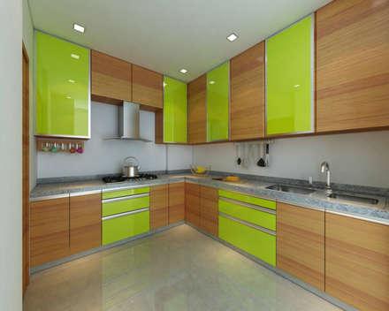asian Kitchen by Midas Dezign