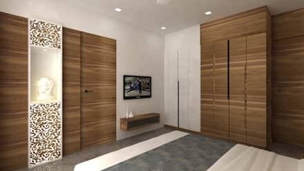 Ashish Rai Residence: asian Bedroom by Midas Dezign
