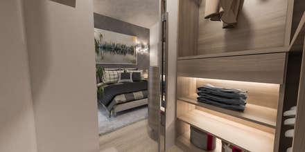 cabina armadio: Spogliatoio in stile  di studiosagitair
