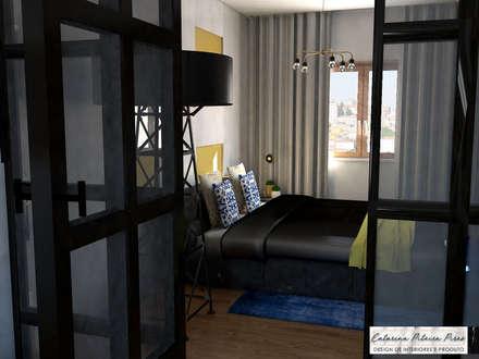 Suite Showroom - Douro Boutique: Quartos industriais por Catarina Piteira Pires - Design de interiores e de produto