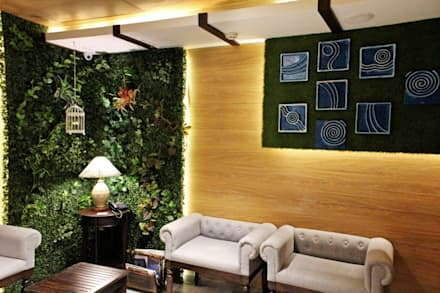 Mahajans Lounge in DLF 4, Gurugram:  Walls by Grecor