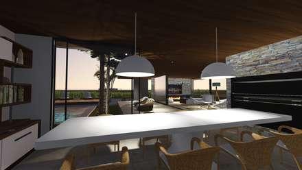 Quincho - Galería: Salas multimedia de estilo moderno por Estudio A+I