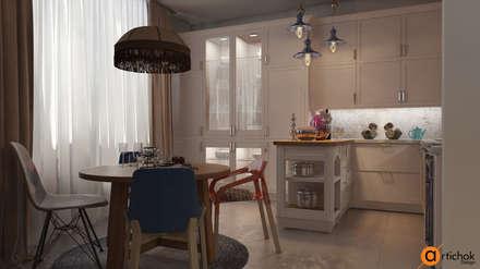 Дизайн интерьера кухни-студии в стиле эклектика: Встроенные кухни в . Автор – Art-i-Chok