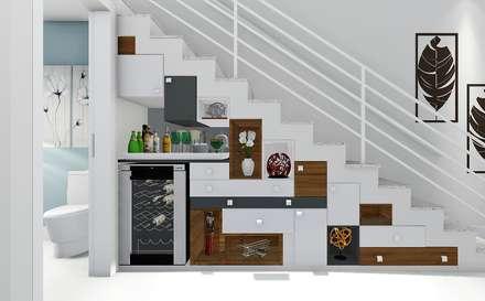 Escaleras de estilo  por Trivisio Consultoria e Projetos em 3D