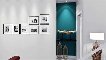 Cantos para encantar: Corredores e halls de entrada  por Trivisio Consultoria e Projetos em 3D