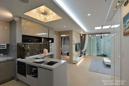 부산 모던 캐주얼 15평 아파트(3): 노마드디자인 / Nomad design의  주방 설비
