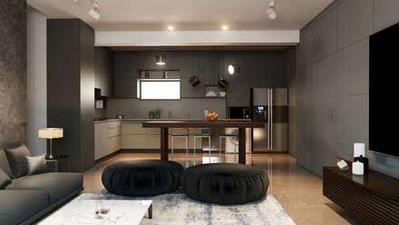 The Kitchen : minimalistic Kitchen by  Ashleys