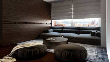 The lounge : minimalistic Bedroom by  Ashleys