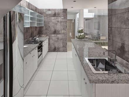 Cocina: Cocinas de estilo minimalista por TECTONICA STUDIO SAC