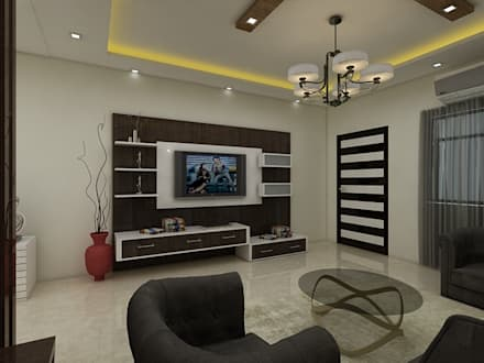 Living Room : Modern Living Room By Regalias India Interiors U0026  Infrastructure