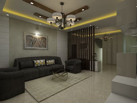 Living: Modern Living Room By Regalias India Interiors U0026 Infrastructure