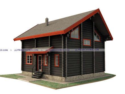 Деревянный дом из лафета: Деревянные дома в . Автор – Projectstroy