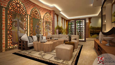 Project Guest House @HauzKhasVillage by MAD DESIGN: colonial Living room by MAD DESIGN