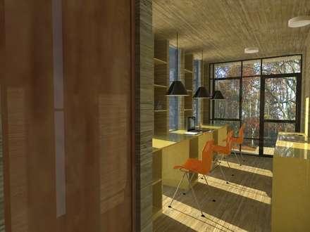 vista interior: Estudios y biblioteca de estilo  por OMD Arquitectos