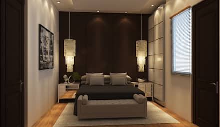 RESIDENCE SINGLE FAMILY PROJECT BY MAD DESIGN: eclectic Bedroom by MAD DESIGN