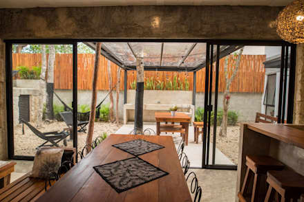 Villa Cherie: Jardines de estilo rústico por CO-TA ARQUITECTURA