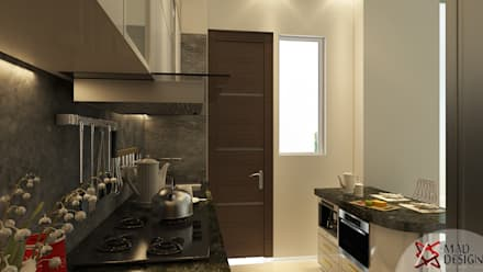 5BHK PROJECT @PRATEEK STYLOME BY MAD DESIGN: minimalistic Kitchen by MAD DESIGN