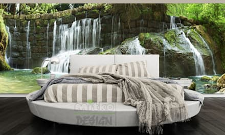 Schlafen Sie unter einem leisen Wasserfall...: moderne Schlafzimmer von Mitko Design