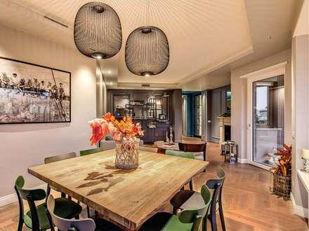 ENGLEN: Sala da pranzo in stile in stile Moderno di MOB ARCHITECTS