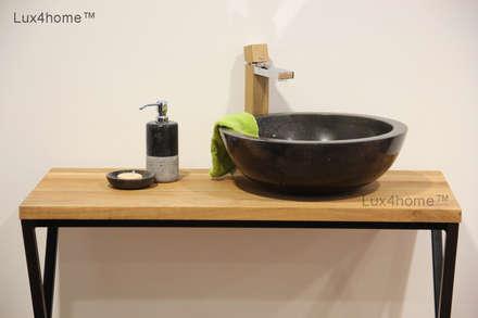 Black marble bathroom sink - black washbasin: tropical Bathroom by Lux4home™ Indonesia