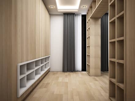 minimalistic Dressing room by Zero field design studio