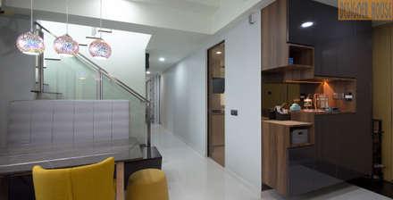 Dining Hall & Shoe Cabinet Design: modern Dining room by Designer House