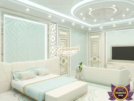 Bright ideas in the interiors of Katrina Antonovich: eclectic Bedroom by Luxury Antonovich Design