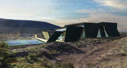 Polideportivo LHCC: Gimnasios de estilo moderno por Speziale Linares arquitectos