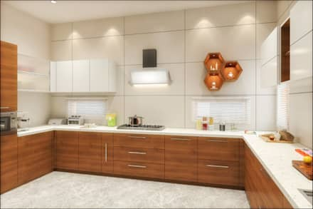 3d View Of Kitchen : Built In Kitchens By Square Designs