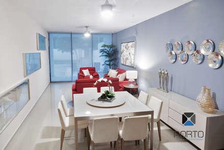 """""""PROYECTO JM38"""": Comedores de estilo moderno por PORTO Arquitectura + Diseño de Interiores"""