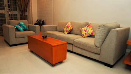 COSY BLOCK: colonial Living room by DESIGN EVOLUTION LAB