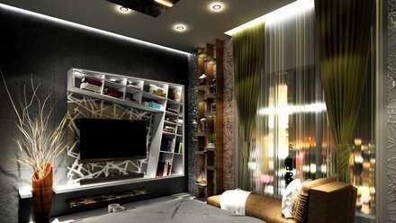 PROPOSED INTERIOR AT UNDRI.: modern Bedroom by DESIGN EVOLUTION LAB