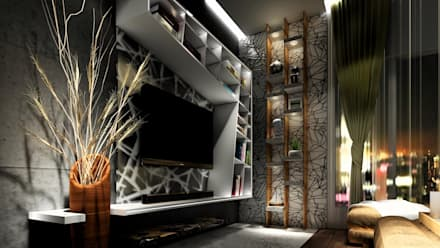 PROPOSED INTERIOR AT UNDRI.: modern Bedroom by DESIGN EVOLUTION LAB