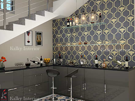 bar area: modern Wine cellar by kalky interior