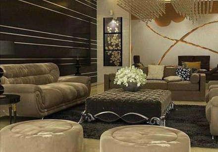 Residence in Gurgaon:  Corridor & hallway by Archint Designs Pvt. Ltd.