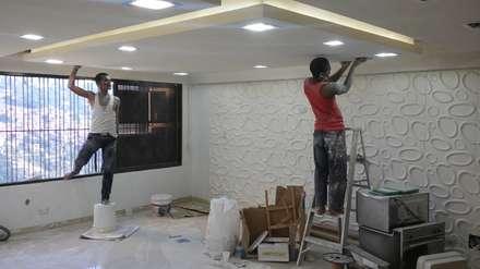 Acabados techo - Sistema de Luminarias: Salas / recibidores de estilo minimalista por Arquigrafic, c.a.