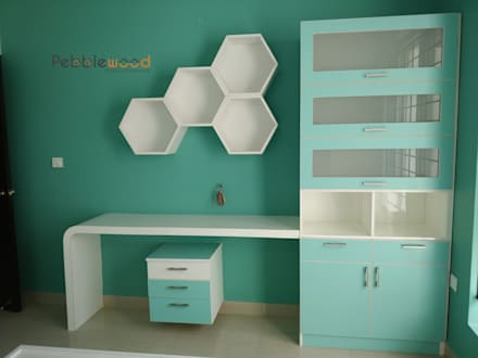 modern Nursery/kid's room by Pebblewood.in