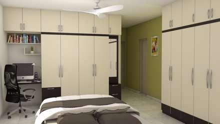 Purva Seasons 270   Bangalore: Modern Bedroom By Pebblewood.in